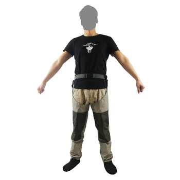 Men Hunting Wading Pants Fly Fishing Breathable Thigh Waders Waterproof  trousers Outdoor Leg waders Hip Wader  hunt gear high jump camouflage fishing waders 0 7mm pvc breathable waterproof chest fishing wader unisex dichotomanthes end fishing waders