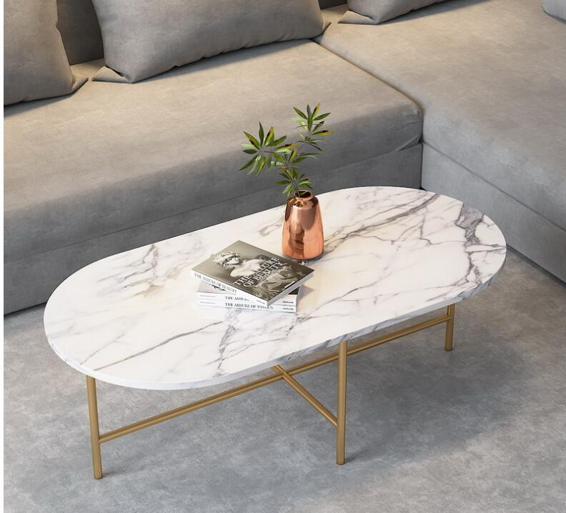 Marble Coffee Table Simple Modern Side Small Apartment Living Room Tea Table Light Luxury Coffee Table Set Furniture Round Coffe