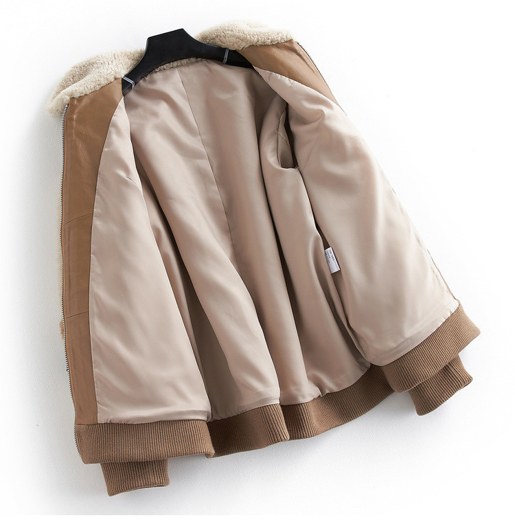 Coat Fur Real Female Sheep Shearling Fur 100% Wool Coats 2020 Autumn Winter Jacket Women Korean Outwear Abrigo Mujer MY S