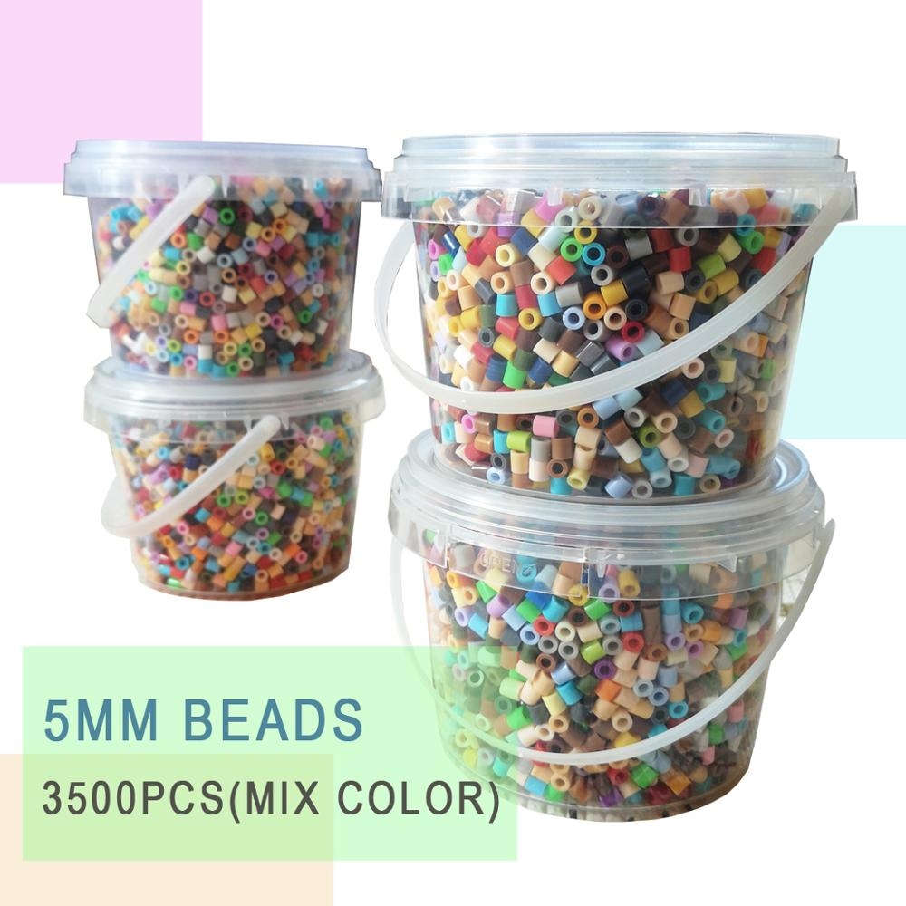 YantJouet 5mm Beads 3500pcs/barrel 20colors+ Iron Beads For Kids Hama Beads Diy Puzzles High Quality Perler Handmade Gift Toy