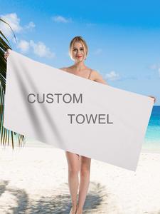 Beach-Towels Microfiber Photo-Print Custom Adults Silstar Tex for Swim