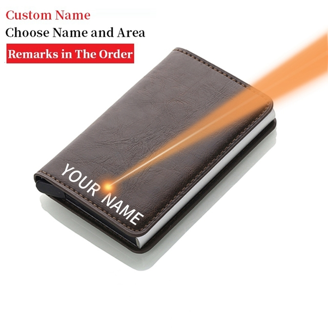 Rfid Blocking Credit Card Holder Men Wallets Slim Thin Business Leather Metal Cardholder Pocket Case Magic Smart Wallet 2