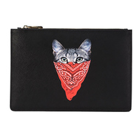 and the United States tide brand clutch bag fashion printing envelope bag small capacity ladies and women handbags Cat animal