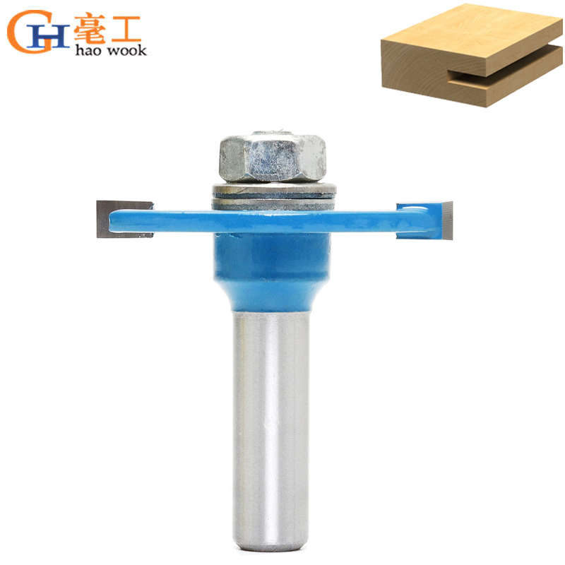 8mm Shank T Type Biscuit Joint Slot Cutter Jointing/Slotting Router Bit 3mm 4mm Height Cutter Wood Working