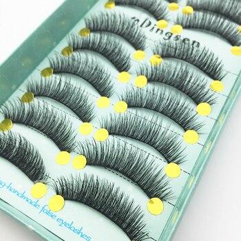 LTWEGO 10 Pairs 3D Soft Faux Mink False Eyelashes Natural Messy Eyelash Crisscross Wispy Fluffy Lashes Extension Makeup tools 1