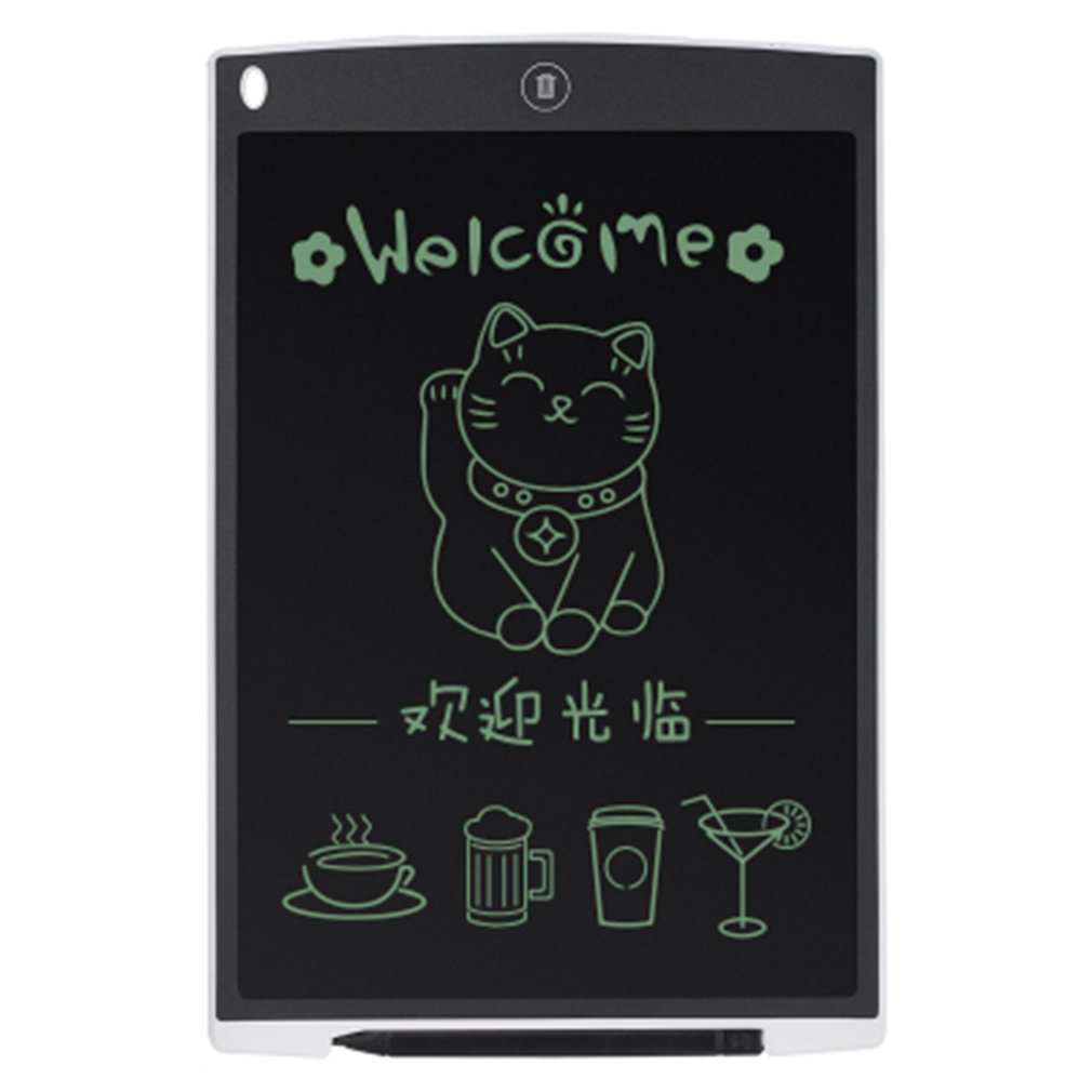Ultra Thin 12 Inch LCD Digital Writing Tablet Drawing Board Sketchpad Electronic Graphic Board With Mouse Pad & Ruler