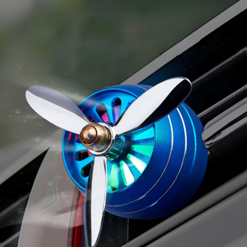 Universal Car Air Purifier Air Force 3 Propeller Aroma Perfume Diffuser Vents Outlet Fragrance Clip Air Freshener