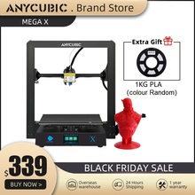 Anycubic I3 מגה סדרת מגה X 3D מדפסת 300*300*305mm גדול בתוספת הדפסת גודל מודולרי עיצוב Ultrabase פלטפורמת 3D Impressora