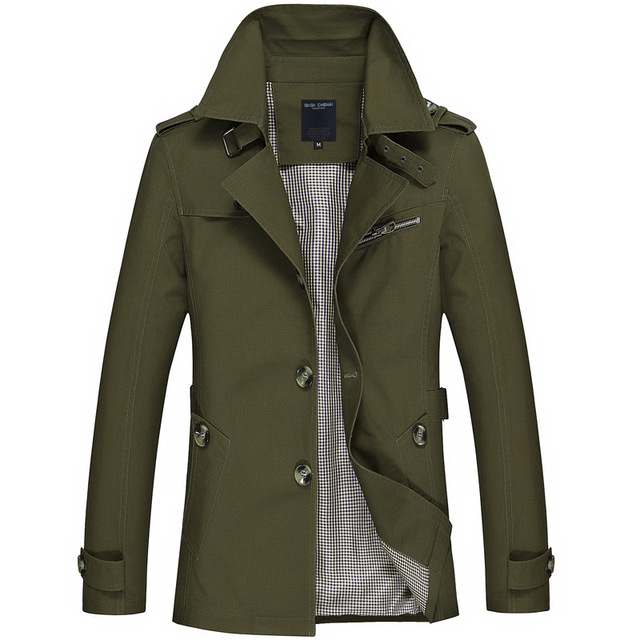 2021New Business Jacket Mens Fashion Spring Men Long Cotton Windbreaker Jackets Overcoat Male Casual Autumn Trench Outwear Coat 3