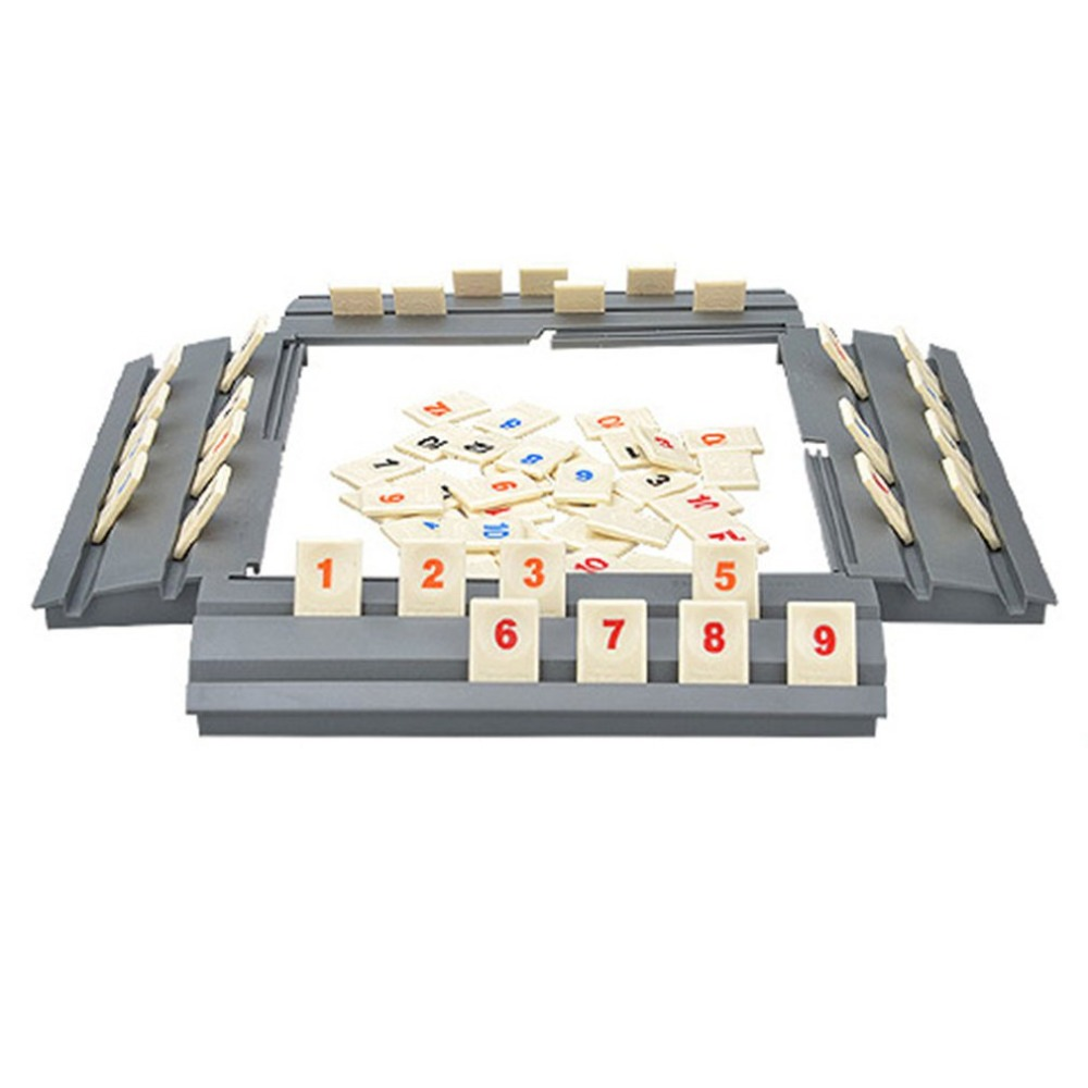 Funny Puzzle Game Israel Mahjong Fast Moving Rummy Tile Family Game Travelling Version Classic Board Game