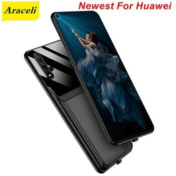 Перейти на Алиэкспресс и купить Araceli 10000 мАч для Huawei Honor 20 20S 20 Pro V8 V9 V20 V30 V30 Pro Чехол для аккумулятора смарт-подставка чехол для зарядного устройства
