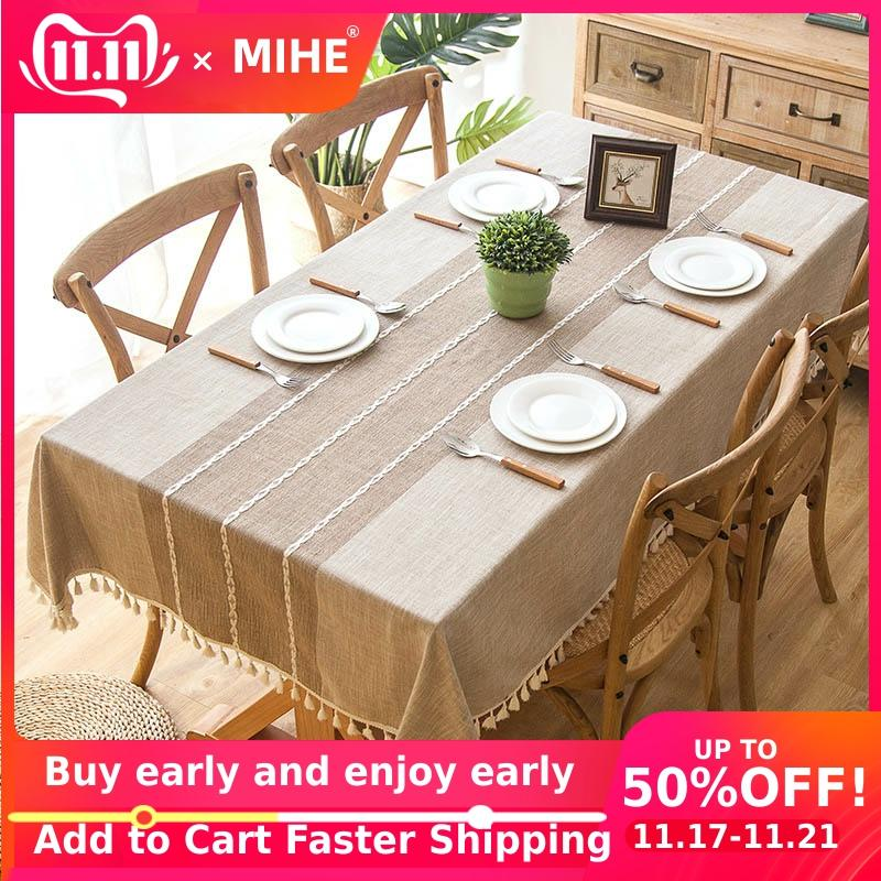 Modern Decorative Table Cloth Home Kitchen Table Cloths Tassel Iace Rectangle Tablecloth Party Banquet Table Cover Dining ZB01