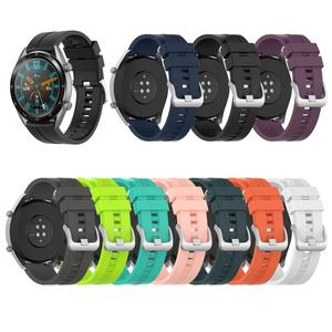 Silicone bracelet Strap Applicable to Huawei watch GT 46mm official silicone strap Universal display width 22MM watch Huawei GT