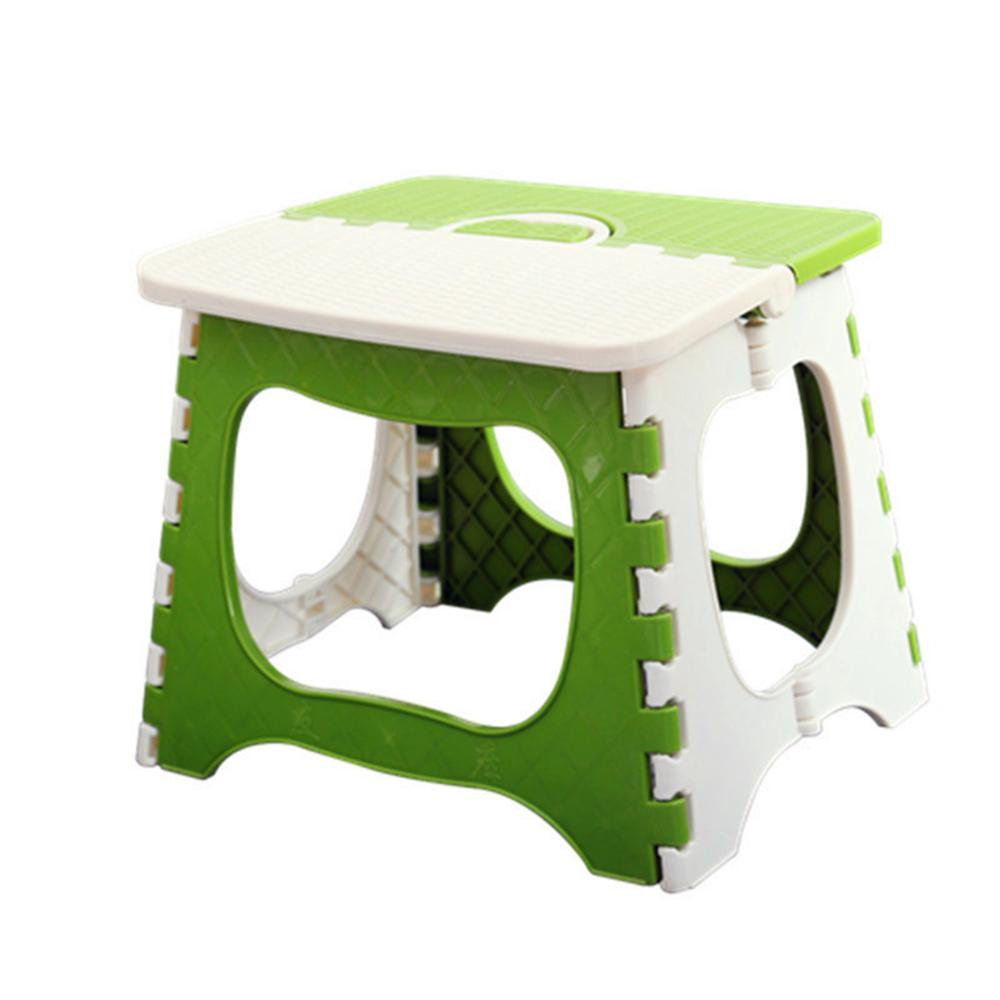 Portable Folding Stools Plastic Children 's Chairs Thickened Adult Train Stools Simple Household Stools Home Stool & Ottoman