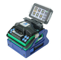 Multilanguage Eloik ALK 88A 7s Fast splicing Fusion Splicer Fiber Optic Fusion Splicer Cleaver Automatic Focus Function 4.3 LCD