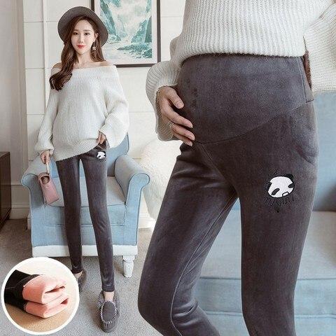 gravidas mais veludo espessamento outono inverno roupa para gravidas