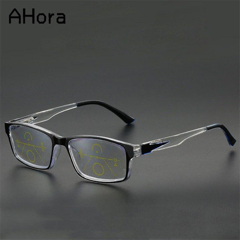 Ahora Occhiali Da Lettura Multifocali Presbiopia Occhiali Da Vista Smart Zoom Titanio Progressive Occhiali Da Lettura Diottrie + 1.0 1.5 2 2.5
