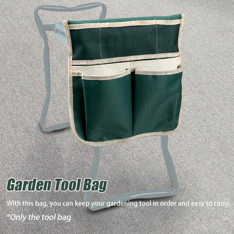 Garden Tool Bag Gardening Lightweight Heavy Duty Stool With Tool Pouch Soft Multifunctional Seat Bearing Foldable Portable