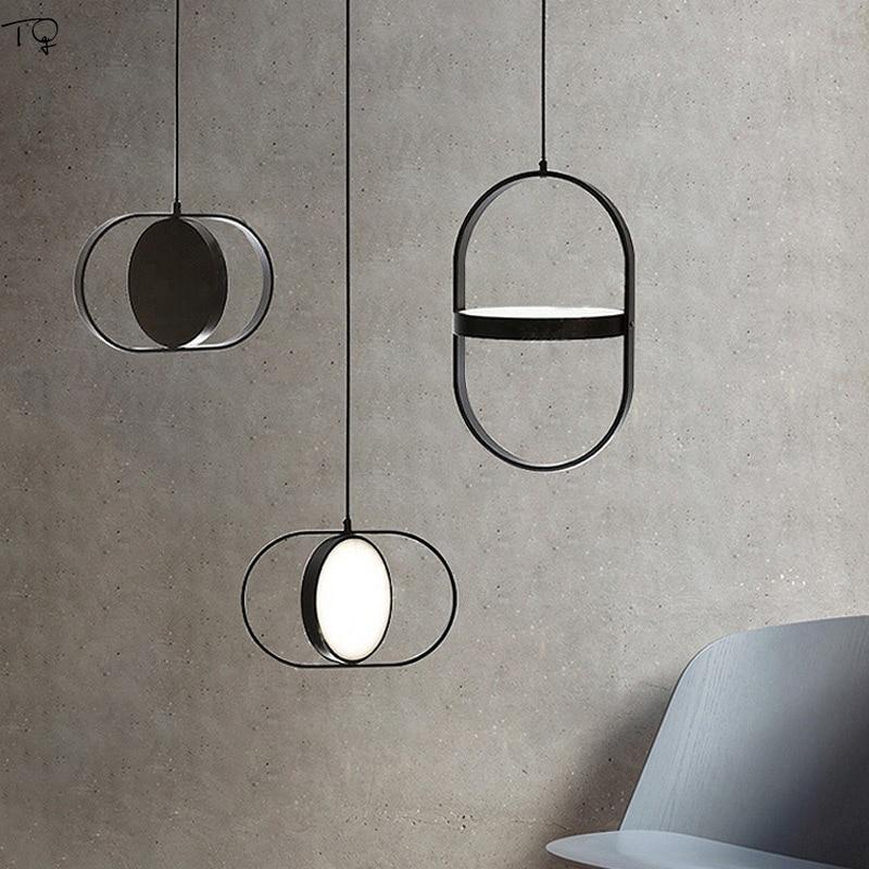 Nordic Designer Ins Artistic Post Modern Pendant Lights Metal Single Head Simple Led Hanging Lamp Bedroom Bedside Restaurant Bar