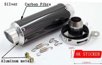 CBR 600 Motorcycle For Honda CBR125 250 400 CBR 600 CBR900 Universal 51MM Motorcycle Real Carbon Fiber MUFFLER EXHAUST