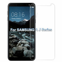 9H HD Tempered Glass On the for Samsung Galaxy J4 J6 A6 A8 Plus 2018 A7 A9 J2 J7 J8 2018 Screen Protector Protective Film Case(China)