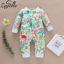 ZAFILLE Baby Clothes Long Sleeve Printed Baby Girl Clothes Cotton Baby Romper Baby Boy Clothes Newborn Infant Romper Clothing 2016 baby boy romper newborn clothing rompers baby clothes college style waistcoat romper infant gentleman romper kid s jumpsuit