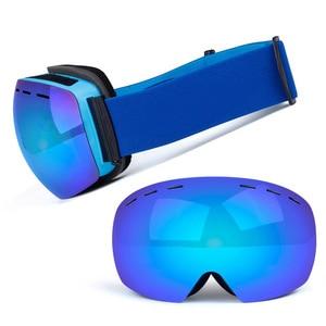 Image 4 - Ski Goggles Double Layers UV Anti fog Big Ski Mask Glasses Skiing Snow Snowboard Goggles Men Women Ski Eyewear