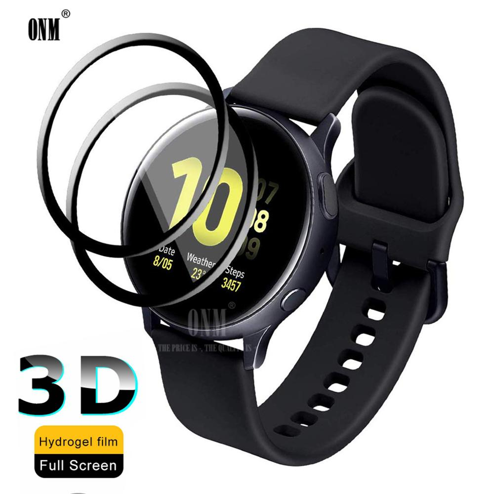 3D Full Screen Protector film for Samsung Galaxy Watch Active 2 40mm 44mm Anti-Bubble Soft Round Edg