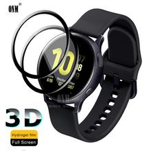 Folie ochronne 3D na cały ekran do Samsung Galaxy Watch Active 2 40mm 44mm anty-bąbelkowa miękka okrągła osłona ekranu tanie tanio Anti-Blue-ray CN (pochodzenie) Przedni Film For Samsung Galaxy watch active 40mm For Samsung galaxy watch active 2 44mm