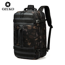 OZUKO Multifunction Large Backpack Men 17 inch Laptop Men Backpacks Large Capacity Fashion Male Mochila Waterproof Travel Bag male men travel laptop backpack waterproof backpacks waterproof oxford swiss mochila 17 inch gear men laptop backpack gear