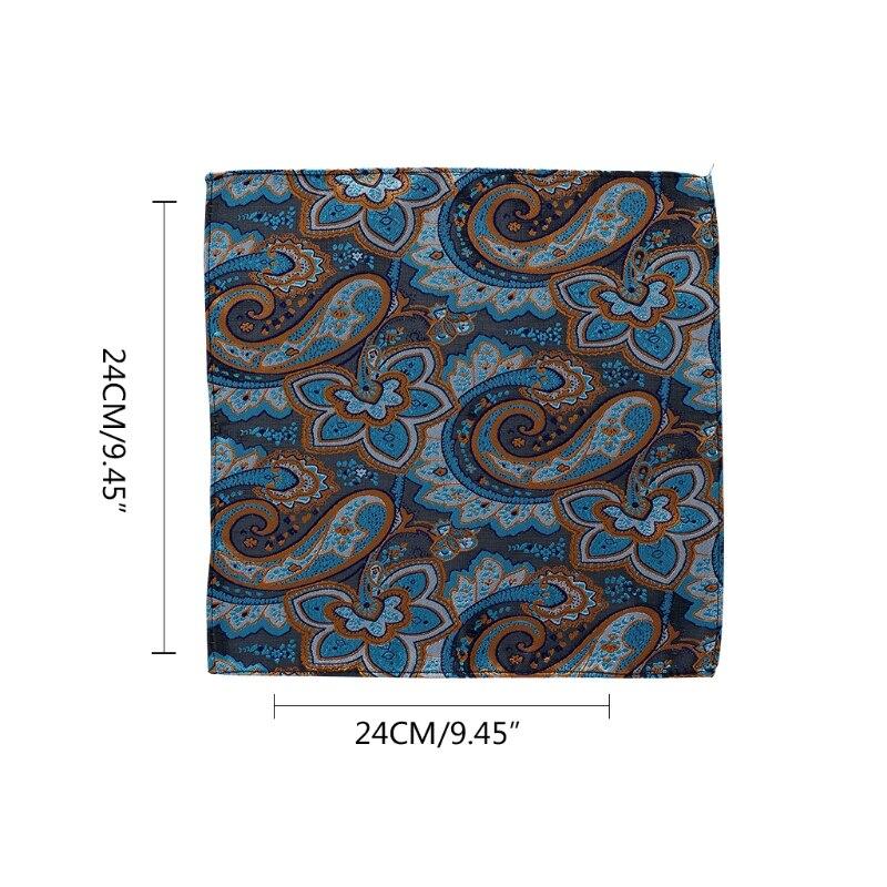 Vintage Gentlemen Paisley Handkerchief Pocket Floral Pocket Square Business Towel Suit Hankies  2XPC