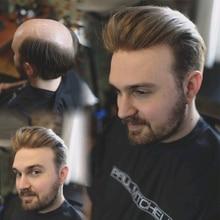 Прочная кожа вокруг швейцарского кружева натуральные волосы для мужчин парик натуральный вид настоящие человеческие волосы 9x7 дюймов#420 основа Dolago