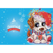 New 5d diy diamond painting Christmas card diamond mosaic embroidery beads cartoon personality animal Christmas children gift(China)