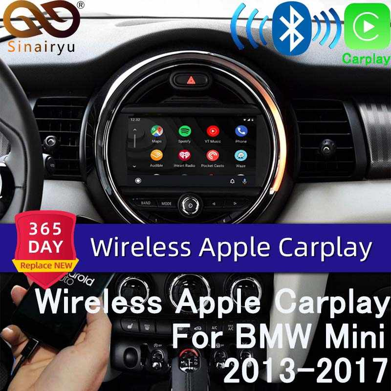Sinairyu bezprzewodowy Apple carplay dla BMW Mini CIC 8.8 cala/6.5 cala ekran 2008-2012 Airplay Android Auto Apple Mirroring Car Play