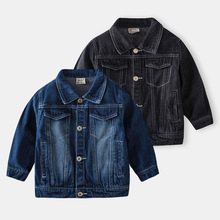 Boys Casual Jeans Coats New Spring Autumn Baby Boys Cartoon Lapel Jeans Jacket Infant Clothing Toddler Casual Jeans Jakcets cheap Ywstt COTTON Polyester Lycra CN(Origin) Spring Autumn 4-6y 7-12y 12+y unisex Solid Children Regular Turn-down Collar Outerwear Coats