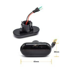 Image 3 - 2Pcs/Lot LED Dynamic Turn Signal Side Marker Lamp For Dacia Duster Dokker Lodgy Renault Megane 1 Clio1 2 KANGOO ESPACE Smart