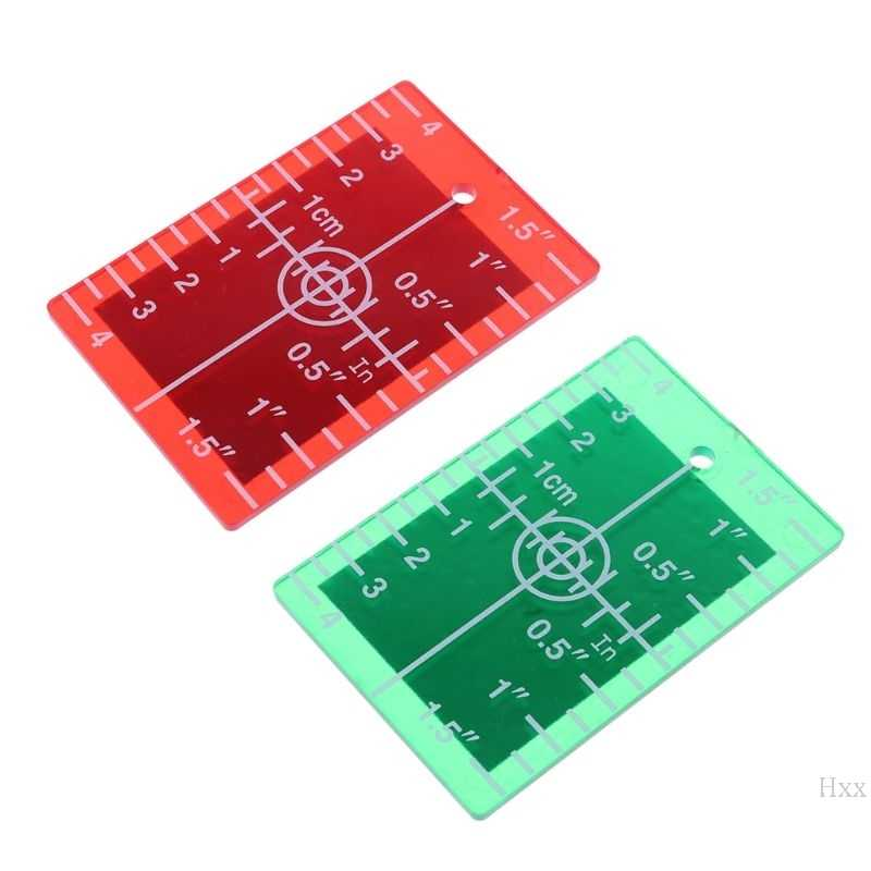 New Laser Target Card Plate inch/cm for Green and Red Laser Level Target Plate