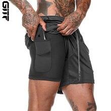 Мужские шорты для бега мужские спортивные 2 в 1 двухслойные