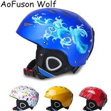 Snowboard Helmet Skating Children Warm Brand Men Extreme Adjustable Women Integrally-Molded