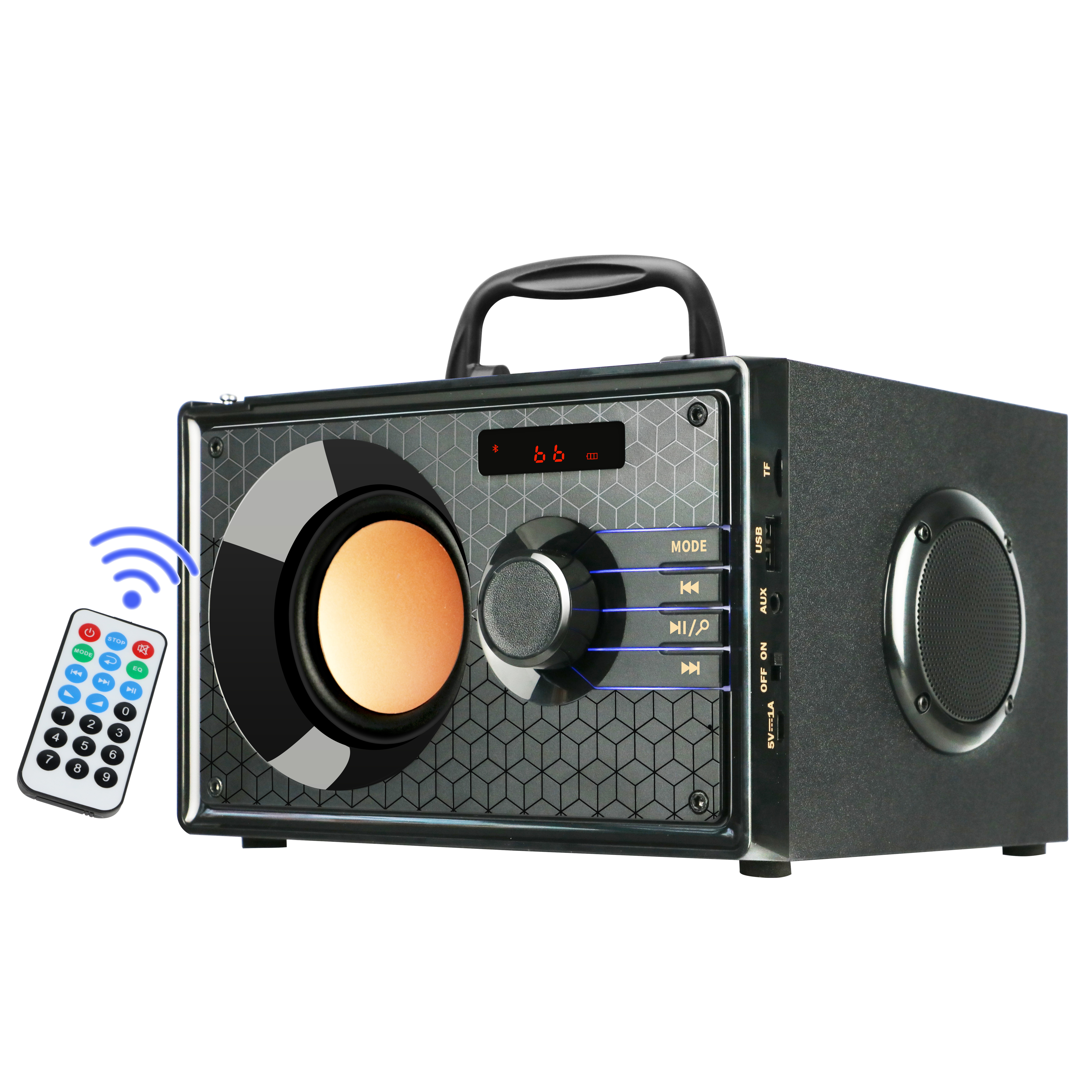 TOPROAD Portable Bluetooth Speaker Wireless Big Power Speakers Stereo Subwoofer Bass Sound Box Support FM AUX TF Remote Control Outdoor Speakers  - AliExpress