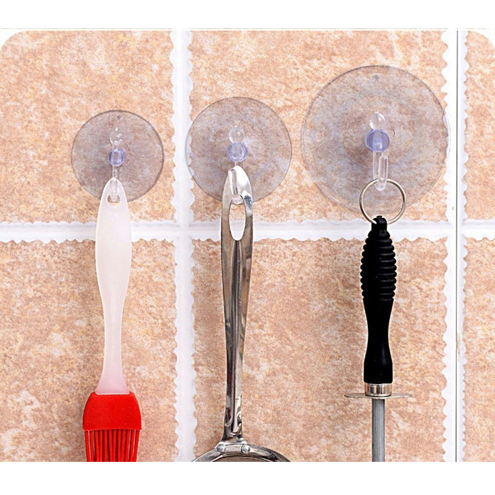 10Pcs/Pack New Fashion Transparent Wall Hooks Hanger Kitchen Bathroom Suction Cup Suckers For Window Wall Hook Hanger