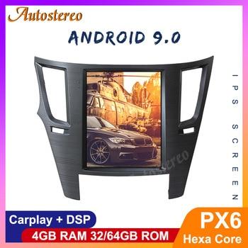Tesla Style Andriod 9.0 PX6 Car GPS Navigation For Subaru Legacy Outback 2009 Auto Radio Headunit  Multimedia Player Carplay DSP