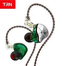 New TRN STM 1DD+1BA Hybrid In Ear Earphone HIFI Running Sport Earphone Earbuds 3 filter Detachable Cable TRN V90 ST1 VX ZST X T2