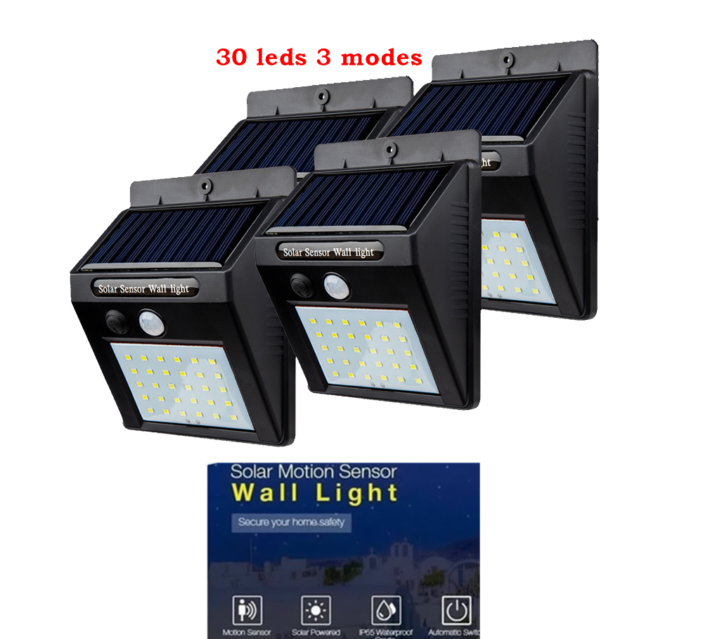 2/4PCS LED Solar Light Outdoor Lighting Of Garden Security Lamp Spotlights Waterproof Street Wall Light Solar Panels With Motion