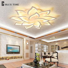 Lustres Modern Led Chandelier Living room Bedroom Dining room Kitchen Fixture Lights Acrylic Surface Mount Chandelier Lightings