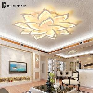 Image 1 - Lustres 현대 led 샹들리에 거실 침실 식당 주방 설비 조명 아크릴 표면 마운트 샹들리에 조명