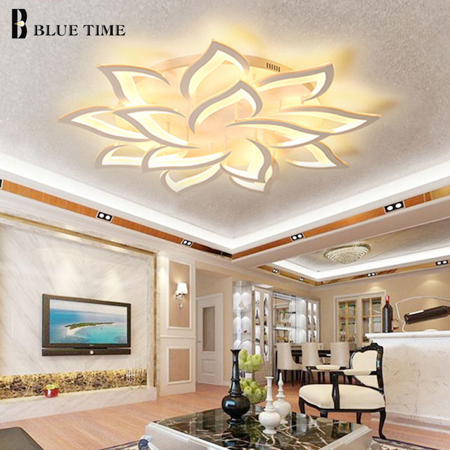 Lustres 현대 led 샹들리에 거실 침실 식당 주방 설비 조명 아크릴 표면 마운트 샹들리에 조명
