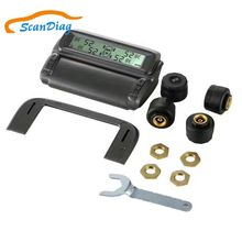 Tire Pressure Monitoring System TPMS 4 Wheels Internal External Sensor Solar