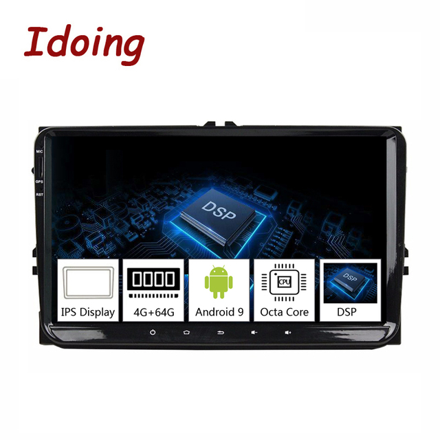 "Idoing 9""Universal Car Android 9.0 Radio Multimedia Player For Volkswagen Golf Poloskoda rapid octavia Radio Tiguan Passat B7 B6"