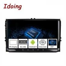 "Idoing 9 ""Universal Car Android 9.0 Radio Multimedia Player Per Volkswagen Golf Poloskoda rapid octavia Radio Tiguan Passat B7 b6"